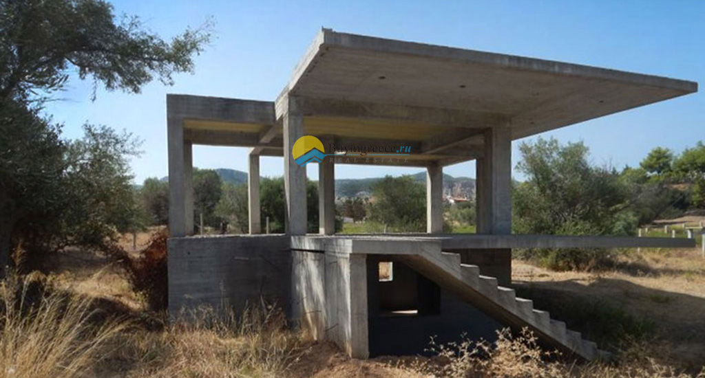 Plot with unfinished house in Alepochori - Buyingreece Real Estate (ed)