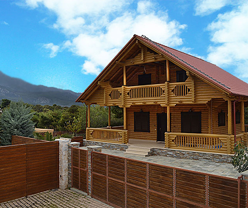 Cottages in Greece with seaview - Chalet in Greek mountains - Buyingreece Real Estate - Properties in Greece