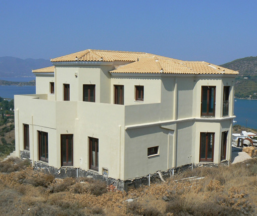 Unfinished mansions, houses near airport in Greece - Unfinished properties near sea - Buyingreece Real Estate - Properties in Greece - Unfinished projects in Greece