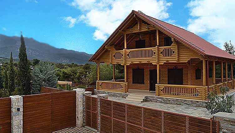 wooden cottage greece